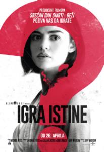 """Najava bioskopa: """"IGRA ISTINE""""  OD 26. DO 30. APRILA 2018.  u 20.00 ČASOVA"""