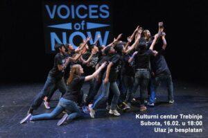 """NAJAVA:  KULTURNI CENTAR TREBINJE – POZORIŠNA PREDSTAVA  """"The Voices of Now"""""""